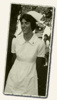Annie Moore, nursing school graduation, 1975