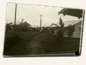 Path between houses in Jonestown, May 1979