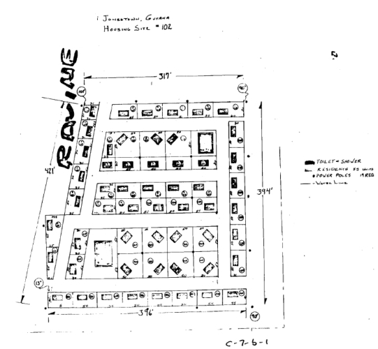 Undated plan for a group of 55 cottages.
