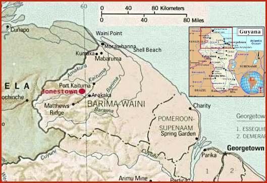 Map of Guyana Alternative Considerations of Jonestown Peoples Temple