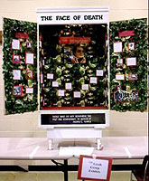 The Face of Death exhibit