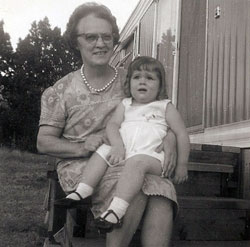 Here is the picture of my Grandma Dee Dee and the little girl that she kept in California. This is the last picture that we have of my Grandma.