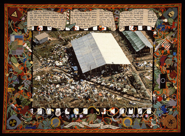 Finished canvas from Jonestown Carpet, created over 1981-91.