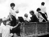People arriving in Jonestown